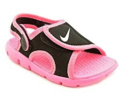 New Nike Baby Girl\'s Sunray Adjust 4 Sandal Black/Pink 7