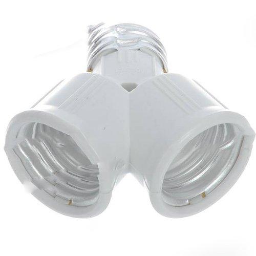 BestOfferBuy - Adaptateur convertisseur diviseur lampe à ampoule E27 vers une double E27