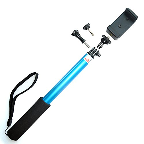 accmor gopro selfie stick handheld extendable monopod with phone holder mount compatible with. Black Bedroom Furniture Sets. Home Design Ideas