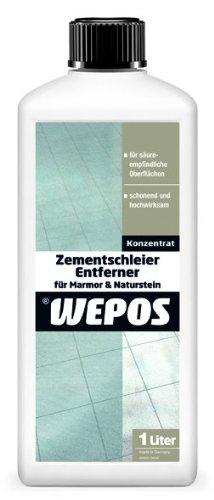 Wepos 2000203450 Zementschleier Entferner für Marmor und Naturstein 1 Liter