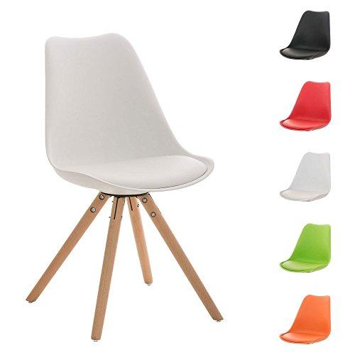 clp design retro stuhl pegleg mit holzgestell natura materialmix aus kunststoff kunstleder und. Black Bedroom Furniture Sets. Home Design Ideas