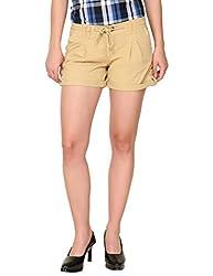 Alibi Women's Shorts(ALBR000088A_32_Beige_32)