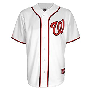 MLB Washington Nationals Home Replica Baseball Youth Jersey, White, X-Large