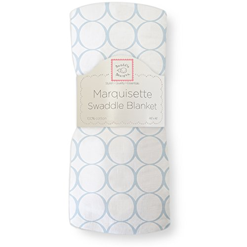 Swaddledesigns Marquisette Swaddling Blanket Pastel Mod Circle, Blue (japan import)