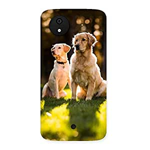 Two Friends Back Case Cover for Micromax Canvas A1