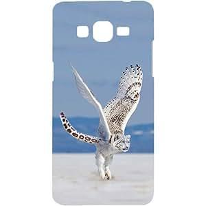 Casotec Snowy Owlpard Design Hard Back Case Cover for Samsung Galaxy Grand Prime G530