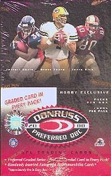 2000 Donruss Preferred QBC Football box (10 pk)