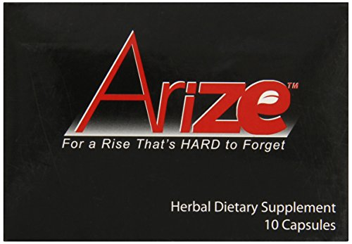 AriZe Arize Natural Male Enhancement & Testosterone Booster (10 Caps) - Works In Minutes, Lasts For Days