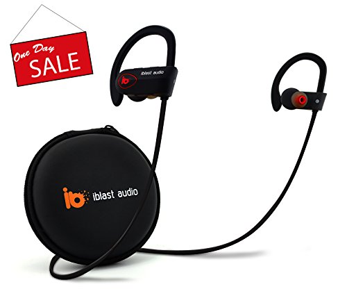 iblast-audio-Bluetooth-Earbuds-Wireless-Running-Headphones-IPX7-Water-SweatProof-Comfortable-Secure-Fit-9hr-Battery-Sport-wMic-V11