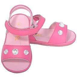 Angel Toddler Girls 5 Fuchsia Jeweled Strap Spring Summer Sandals