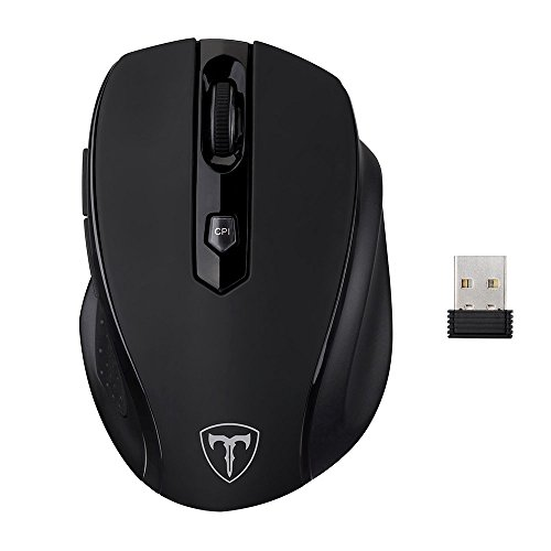 VicTsing - Ratón (inalámbrico,2400 dpi), color negro