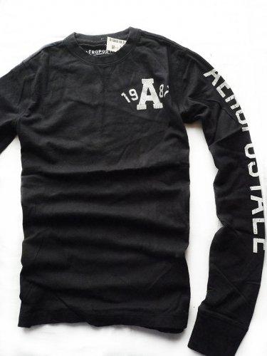 エアロポステール Long Sleeve 1987 グラフィックTシャツ [COLOR: ブラック ][SIZE: S ] [並行輸入品]