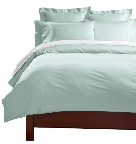 CUDDLEDOWN 400 Thread Count Comforter Cover, Queen, Sea Glass