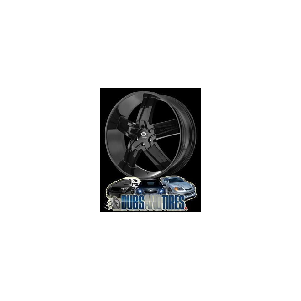 26 Inch 26x9.5 LORENZO wheels WL30 Gloss Black wheels rims
