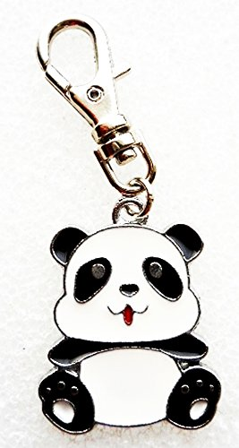 PANDA BEAR JEWELRY CHARM ADD TO YOUR NECKLACE, KEY CHAINS, DIY PROJECTS, JOB BADGE LANYARD, ETC. (Fan Pull Panda compare prices)