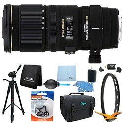Sigma 70-200mm f/2.8 APO EX DG HSM OS FLD Zoom Lens for Nikon DSLRs Lens Kit Bundle