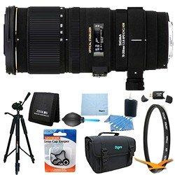 Sigma 70-200mm f/2.8 APO EX DG HSM OS FLD Zoom Lens for Nikon DSLRs Lens Kit Bundle