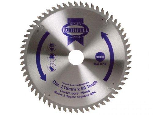 Faithfull Circular Saw Blade Tct 216 X 30 X 60T Neg