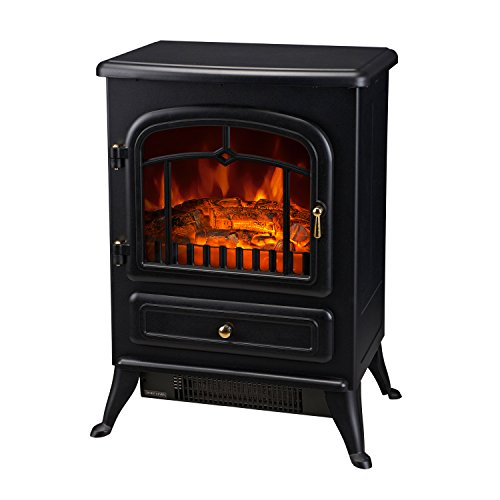 homcom-16-1500w-free-standing-electric-wood-stove-fireplace-heater-black