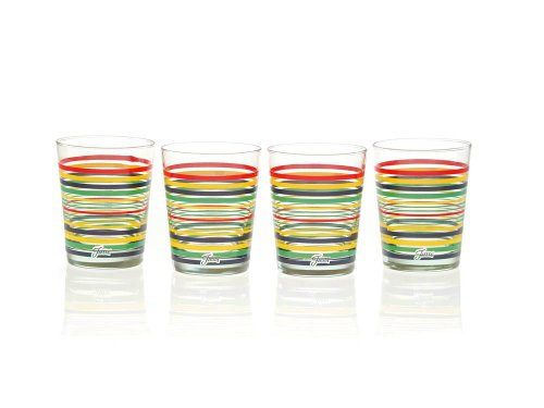 Fiesta Multi-Color Stripe Glassware, 15-Ounce