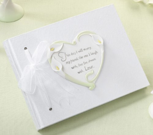 Calla Lily Wedding Guest Book (Flower Theme), 1