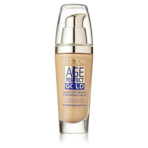 L'Oréal Paris Foundation Age Perfect Gold, 210 Golden Natural - deckendes Make Up mit Lifting Effekt für reife Haut, feuchtigkeitsspendend & pflegend, 1er Pack (1 x 25 ml) thumbnail