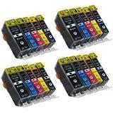 20 Druckerpatronen mit CHIP kompatibel für Canon PGI-525 CLI-526 Canon Pixma IP4850 , MG5120 , MG5150 , MG5250 MG6120 , MG6150 , MG8120 , MG8150 Bubprint®