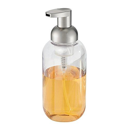 mDesign Glass Foaming Soap Dispenser Pump 2 pc Bathroom
