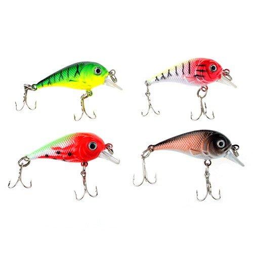 4.5cm Cute Lure Fishing Plastic Fish Bait With Dual Triple Hooks by AHMET