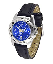 McNeese State University Ladies Leather Band Sports Watch