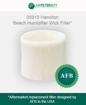 05910 Hamilton Beach Humidifier Wick Filter. Fits Hamilton Beach cool mist humidifier models 05518 and 05519. Designed by AFB. - 1