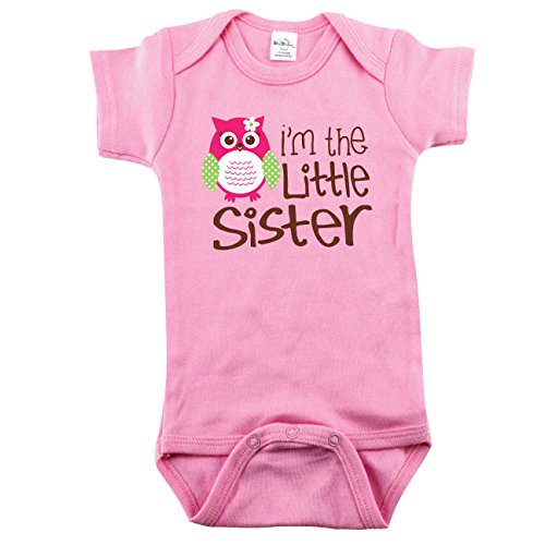 Baby Girl Onesies for Little Sisters, 0-3 Month, I'm the Little Sister with Owl (Im The Little Brother Shirt compare prices)