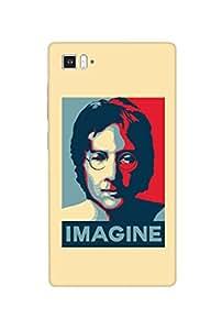 Ownclique John Lennon,Imagine Mobile Back Cover for Xiaomi Mi3 [Matte Finish]