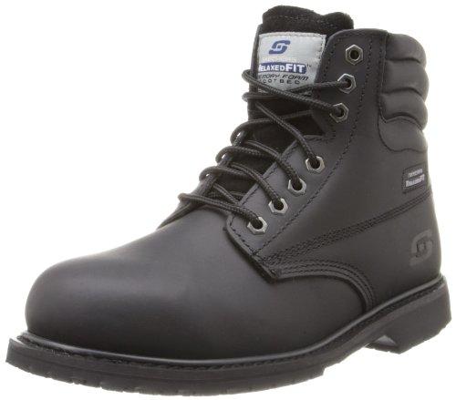 Skechers for Work Men's SSR Grip Slip Resistant Work Boot,Black,11.5 M US