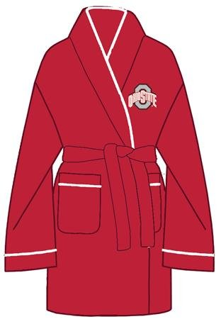 NCAA Ohio State Buckeyes Ladies Scarlet Solid Cozy Robe