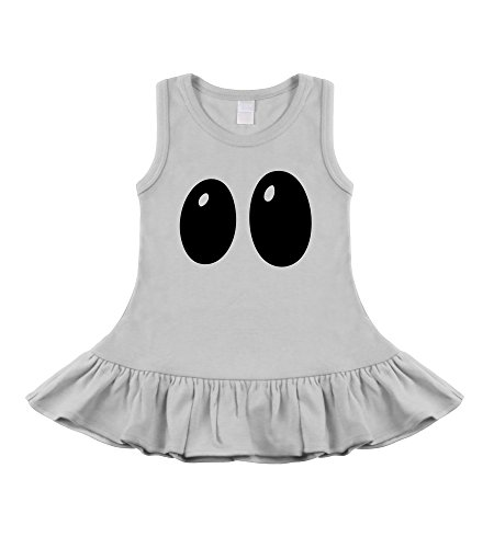 Boo! Ghostie Eyes Halloween Sleeveless Dress