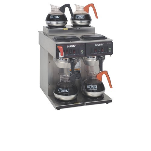 Bunn 23400.0001 Cwtf Twin Automatic Commercial Coffee Brewer With 4 Warmers, 240-Volt