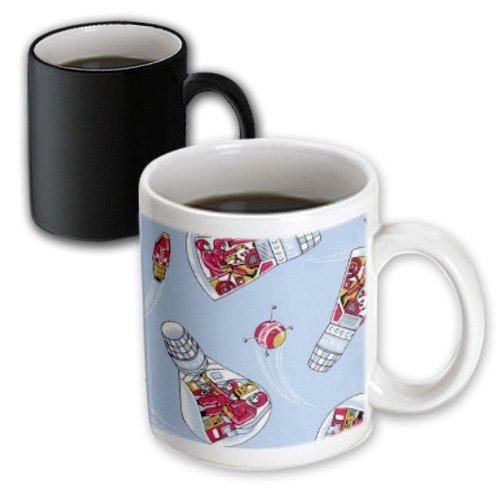 3dRose TNMPastPerfect Space - Retro Gemini Space Capsule - 11oz Magic Transforming Mug (mug_38431_3) (Space Cup Tee compare prices)