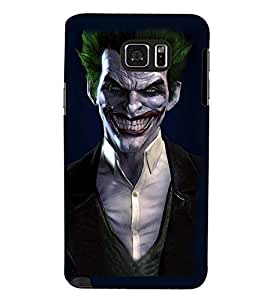 Printvisa Green Hair Funny Dracula Back Case Cover for Samsung Galaxy Note 5 N920