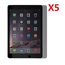 EVERMARKET Premium Privacy Tempered Glass 9H-Hardness Screen Protector Flim for Apple iPad Air and iPad Air 2 iPad 5 6 - 5 Packs