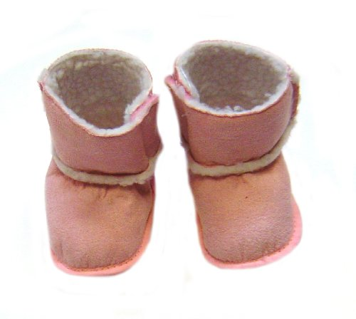 Bright Bots Ugg Boot Style Slippers in Pale Pink size 0-6 months