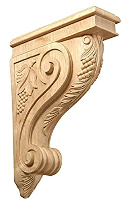 "Omega National Carved Corbels Maple 13"" grape collection from Omega National Products"