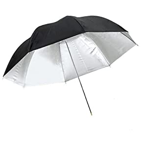 CowboyStudio 43 inch Black and Silver Photo Studio Reflective Umbrella