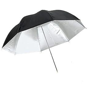 CowboyStudio 33 inch Black and Silver Photo Studio Reflective Umbrella