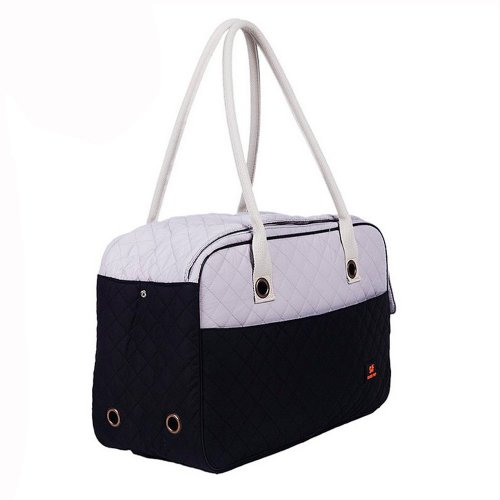 Enjoying Airline Approved Pet Carrier Soft Sided Cat Carriers Doggie Puppy Travel Tote Bag Handbag With Travel Bowl Portable Water Feeder Bowl L :17.7″L * 7″W * 11.8″H