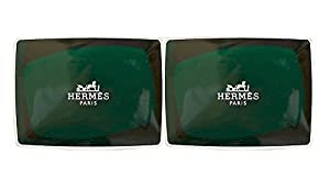 Two (2) Luxury Hermes d'Orange Verte Gift Soaps From Hermes Paris 3.5oz / 100g Boxed Perfumed Soaps / Savons Parfume...