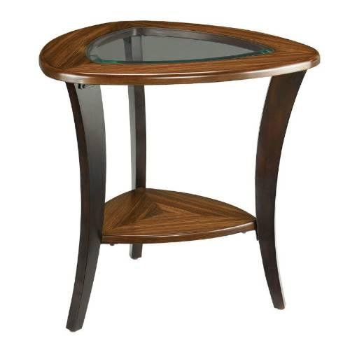 Cheap Hammary Flair Glass Top End Table (056-915)