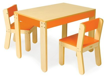 Discover Bargain P'kolino Little One's Table and Chairs, Orange