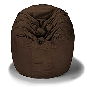 Jaxx Cocoon 4-Foot Bean Bag Chair, Chocolate Microsuede