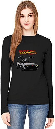 Back to the Most Excellent Future T-Shirt da Donna a Maniche Lunghe Long-Sleeve T-shirt For Women| 100% Premium Cotton| DTG Printing| XX-Large